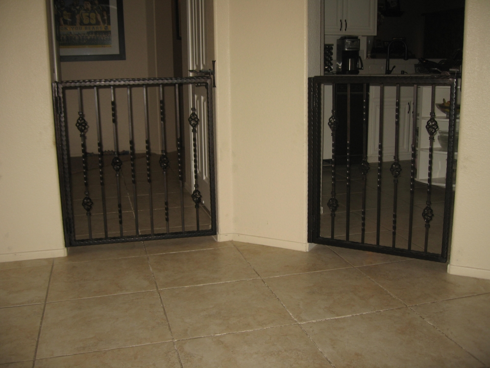 Wrought iron metal gates for courtyards gardens