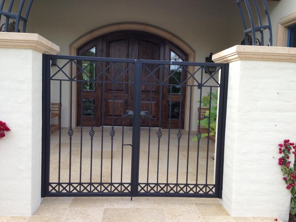 Wrought iron metal gates for courtyards gardens