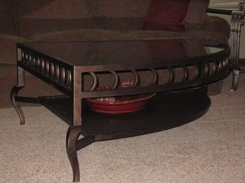 Handmade metal furniture 28 images order rustic vanity with handmade metal inserts made Pie shaped coffee table
