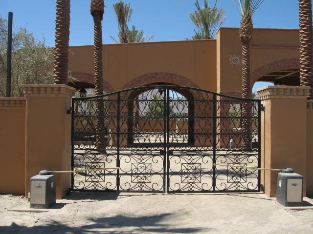 Wrought iron gates custom driveway