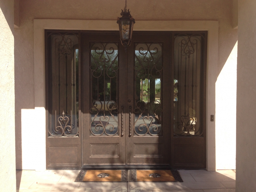 5 26 14 phone pics 754 & Wrought Iron Doors Iron Security Doors Bronze Doors Decorative ...