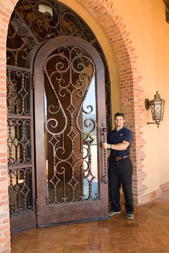 Decorative Wrought Iron Doors